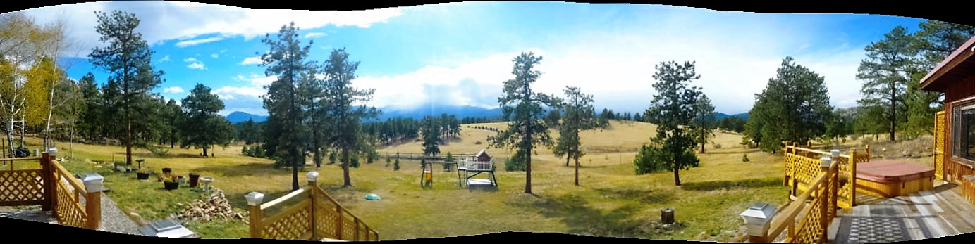 Panoramic view from the front porch. It's not hard to see why I loved this place so much.